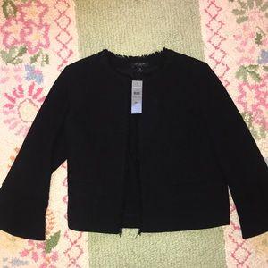 Ann Taylor Bell Sleeve Fringe Jacket/Blazer